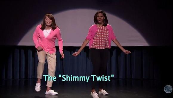 Michelle Obama y Jimmy Fallon divirtieron con secuencia de baile. (YouTube)