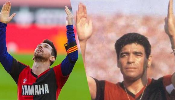 La confesión de Lionel Messi sobre el homenaje a Diego Maradona con la camiseta de Newell's. (Foto: Instagram)
