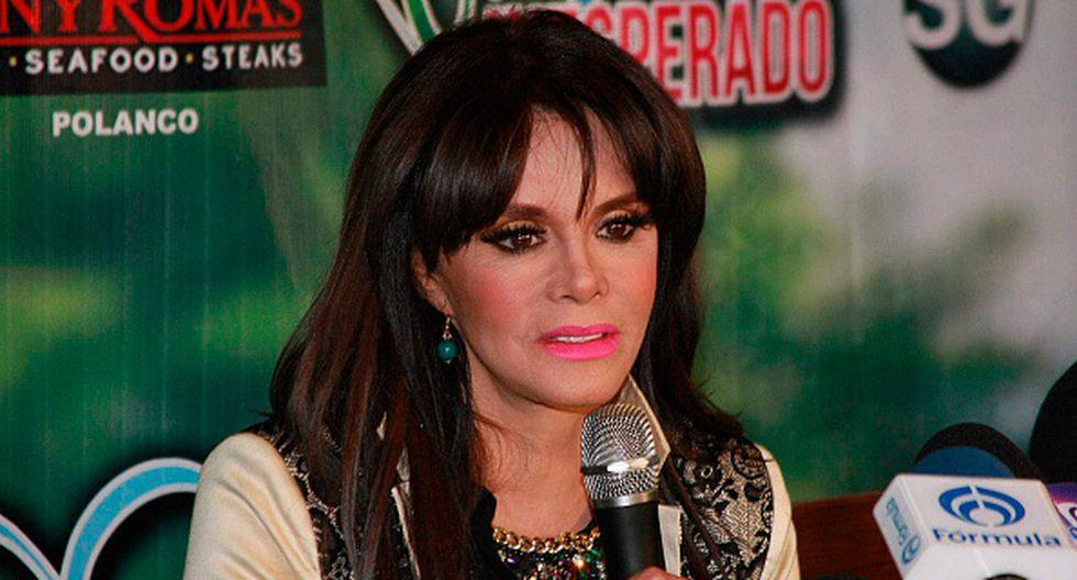 Lucía Méndez víctima de una furiosa perrita. (Getty)