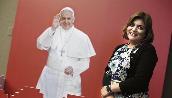 Diana Seminario. Vocera de prensa de la visita del papa al Perú. (Perú21)