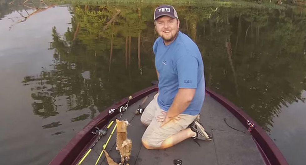 Jason Frost y Brandon Key nunca olvidarán aquel día en que rescataron a dos gatos en lugar de pescar para el almuerzo. (Foto: captura Facebook)