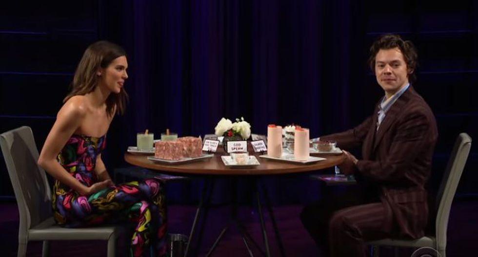 El cantante prefirió comer el producto marino antes de revelar cuál de sus nuevas canciones había sido inspirada en Kendall Jener. (Captura de Youtube)