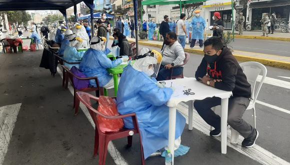 La Libertad: 108 comerciantes dieron positivo a la prueba rápida del COVID-19 (Foto: Gore La Libertad).