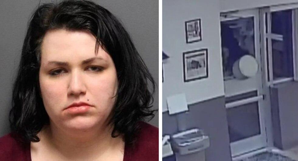 Una mujer irrumpió a la fuerza en una comisaría para ver al oficial que acosaba. (Foto: ABC27 News en Facebook)