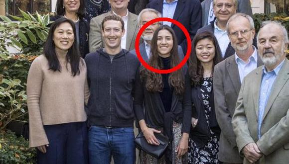 En la reunión también estuvo la esposa de Mark Zuckerberg, Priscilla Chan, quien elogió a Antonella Masini. (El Comercio)