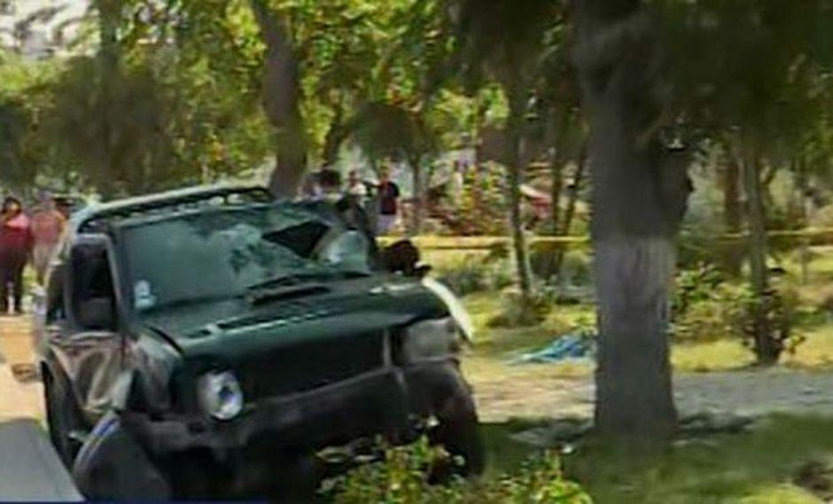 Brutal accidente se produjo en el cruce entre las calles Manuel Bonilla y 12 de Octubre. (Foto: Captura/Canal N)