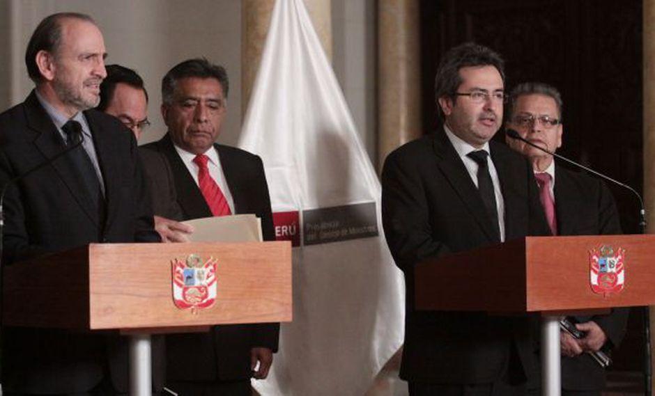 Simon y Jiménez declararon a la prensa tras finalizar su encuentro. (Andina)