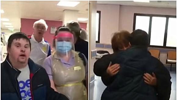 Ben es uno de los afortunados que ha podido vencer a la enfermedad. El emotivo reencuentro que protagonizó con su madre se popularizó en redes sociales. (Fotos: Captura/Sky News)