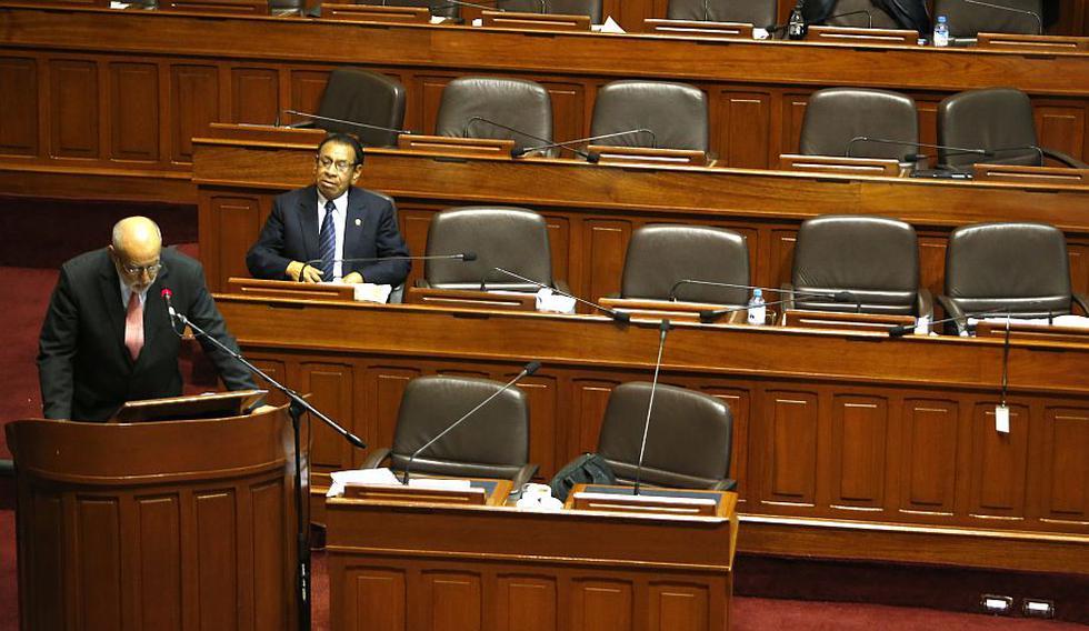 Eleodoro Mayorga respondió 61 preguntas ante un Pleno prácticamente vacío. (Martin Pauca)