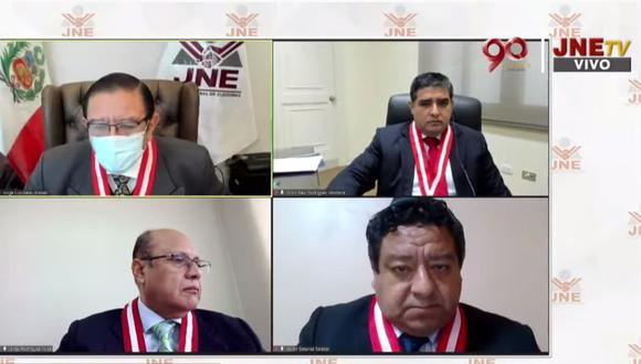 El magistrado Rodríguez Monteza podría volver a votar en minoría.(Captura: JNE).