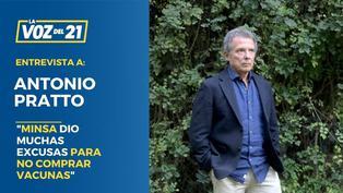 """Antonio Pratto: """"El Minsa dio muchas excusas para no comprar otras vacunas"""""""