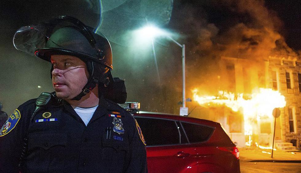 Baltimore: Tensa calma tras una noche de violentas manifestaciones. (EFE)