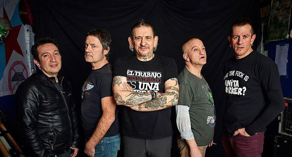 La Polla Records celebra 40 años de formados. Evaristo al medio.