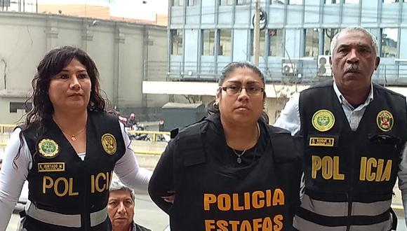 La detenida fue trasladada a la Dirincri (FOTO: PNP)