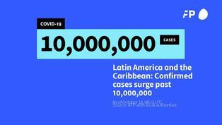 América Latina y el Caribe superaron los 10 millones de casos COVID-19