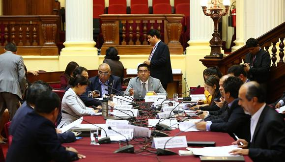 La Comisión de Justicia aprobó un dictamen sobre el delito de financiamiento ilícito de partidos políticos. (Foto: Congreso de la República)