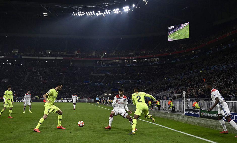Barcelona presentó su queja formal ante la UEFA por presencia de hinchas vetados en Lyon. (Foto: AFP)