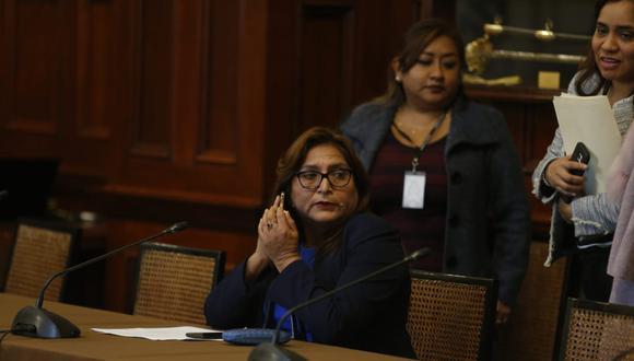 La congresista Betty Ananculi negó que su hoja de vida contenga información falsa. (Foto: GER/ Mario Zapata)