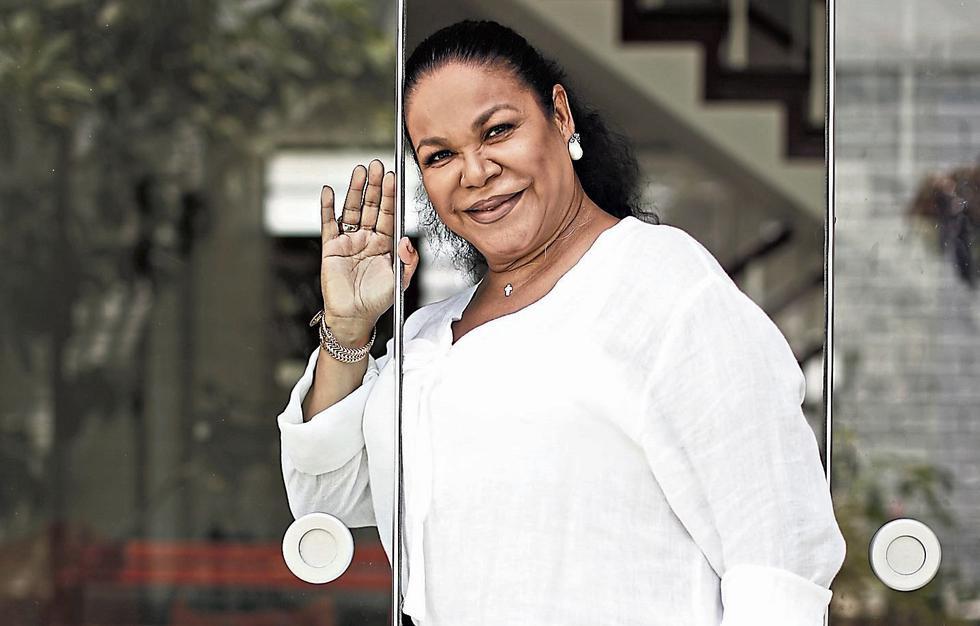 Eva Ayllón. Cantante criolla y jurado del reality 'Los cuatro finalistas'. (Renzo Salazar)