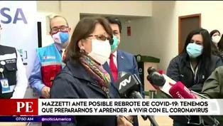 """Pilar Mazzetti: """"nos estamos preparando para cualquier rebrote"""""""