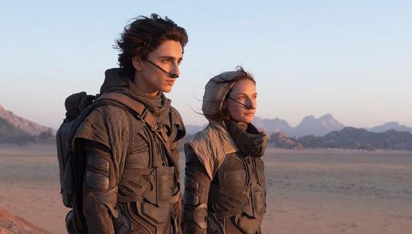 """""""Dune"""" liberó su primer tráiler con la aparición de Zendaya y Thimothée Chalamet. (Foto: Warner Bros)"""