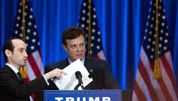 Paul Manafort, ex jefe de campaña presidencial de Donald Trump, se entregó al FBI por las acusaciones de conspiración contra EE.UU.(AFP).