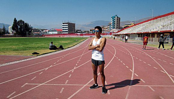 Luis Sandoval, atleta con discapacidad visual. (Archivo Personal)