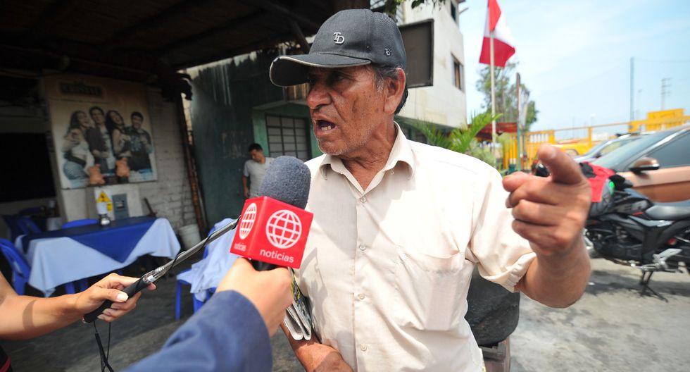 Luis Guzmán Palomino (72) acudió a comisaría de Lurín para rendir su manifestación en torno a tragedia que causó la muerte de 30 personas. (Foto: Diana Marcelo/GEC)