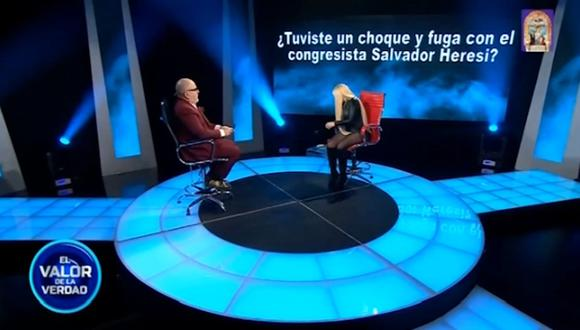 Shirley Cherres habló sobre Salvador Heresi.