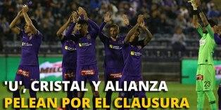 Universitario, Sporting Cristal y Alianza Lima pelean por el Clausura