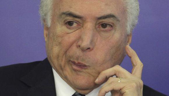 Presidente de Brasil Michel Temer en su peor hora. (AP)