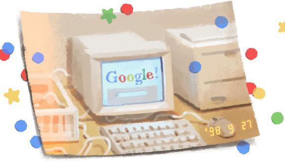 Este es el doodle con el que Google celebró sus 21 años. (Captura de pantalla)