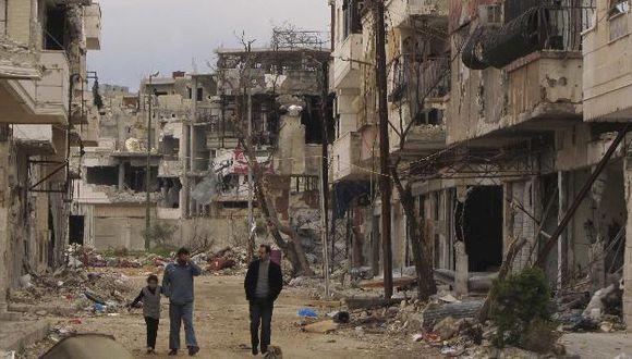 Imagen de la destrucción de los bombardeos del régimen sirio en Homs. (Reuters)