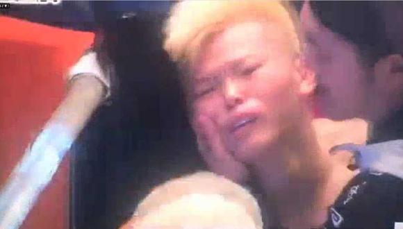 Tenshin Nasukawa no aguantó más de un round a Floyd Mayweather., (Captura y video: Rizin 14)