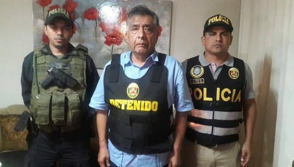 El alcalde provincial de Chiclayo, David Cornejo Chinguel, fue detenido esta madrugada en un megaoperativo policial. (PNP)