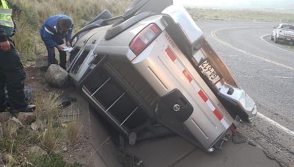 Camioneta quedó a un lado de la vía. (GEC)