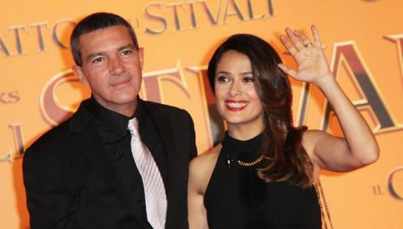 Antonio Banderas y Salma Hayek han actuado en varias películas. (Gettyimages)
