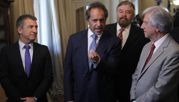 Daniel Scioli lidera encuesta en Argentina. (EFE)