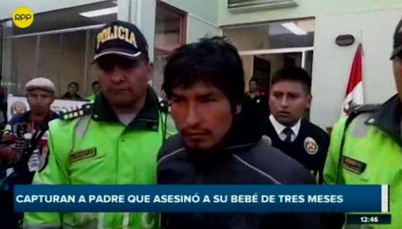 Rubén Corahua Nina es acusado del delito de parricidio en agravio de su bebe de tres meses de nacida (Captura: RPP Noticias)