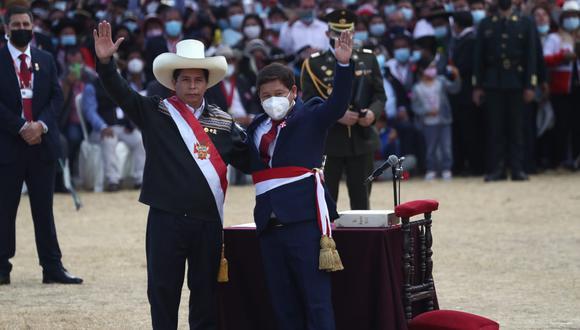Guido Bellido juró al cargo de primer ministro en la Pampa de Ayacucho, (Alessandro Currarino / @photo.gec)