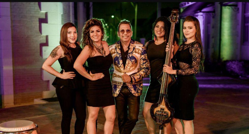 Alberto Barros presenta nueva orquesta femenina. (Facebook All Star)