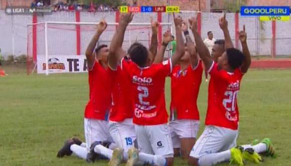 Jesús Rabanal abrió el marcador en el duelo ante Universitario por la Liga 1. (Captura: Gol Perú)