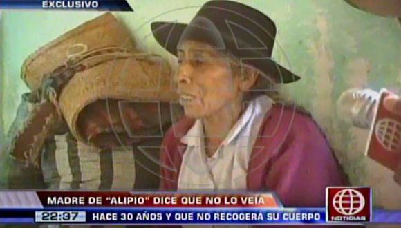 La anciana exigió que dejen a su familia en paz. (Captura de TV)