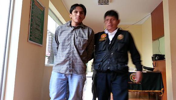 Uno de los detenidos por la Policía. (Shirley Ávila)
