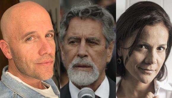 Artistas nacionales se pronunciaron en redes sociales luego que Francisco Sagasti se convirtió en el nuevo presidente del Perú. (Foto: @gianmarcooficial/GEC/@cordeliamar_21)
