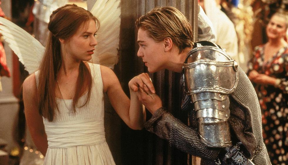 Romeo y Julieta protagonizada porLeonardo DiCaprio y Claire Danes. (Difusión)