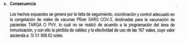 Consecuencias del informe de visita de control de la Contraloría.