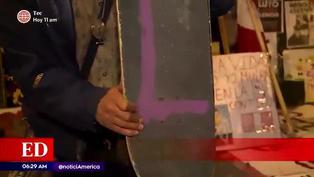 Jóvenes usaron sus tablas de skate para defender a manifestantes en el Centro de Lima