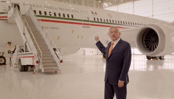 La venta del avión presidencial fue una de las promesas de campaña de AMLO. (Presidencia México)