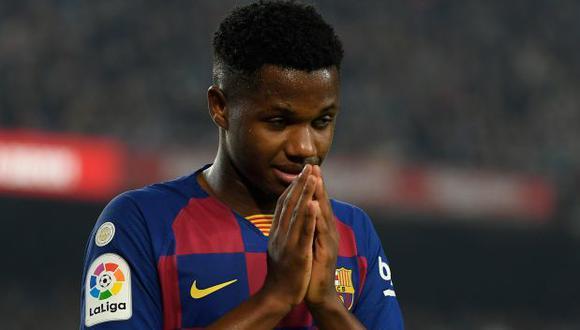 Ansu Fati se unió a los trabajos de Barcelona tras debutar y anotar gol con la selección de España. (Foto: AFP)